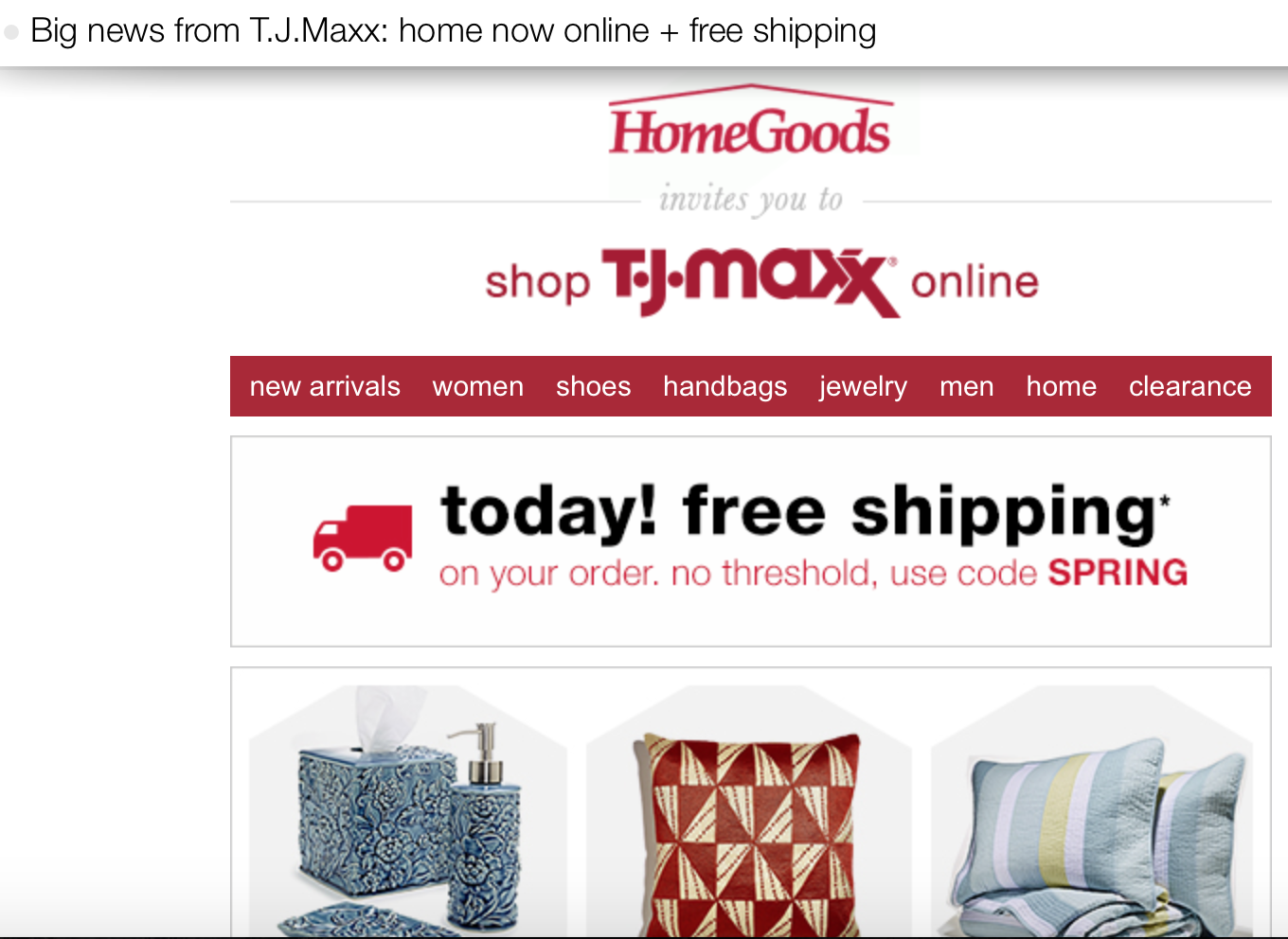 HomeGoods website is LIVE. Attention Shoppers  Home Goods launches Online Shopping  Thx TJXX